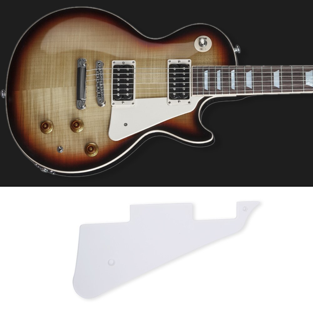 Guitarra Pickguard Control & Switch Cavity Plate Set Pick Guard Cover para LP Guitarra Eléctrica, blanco: Amazon.es: Instrumentos musicales