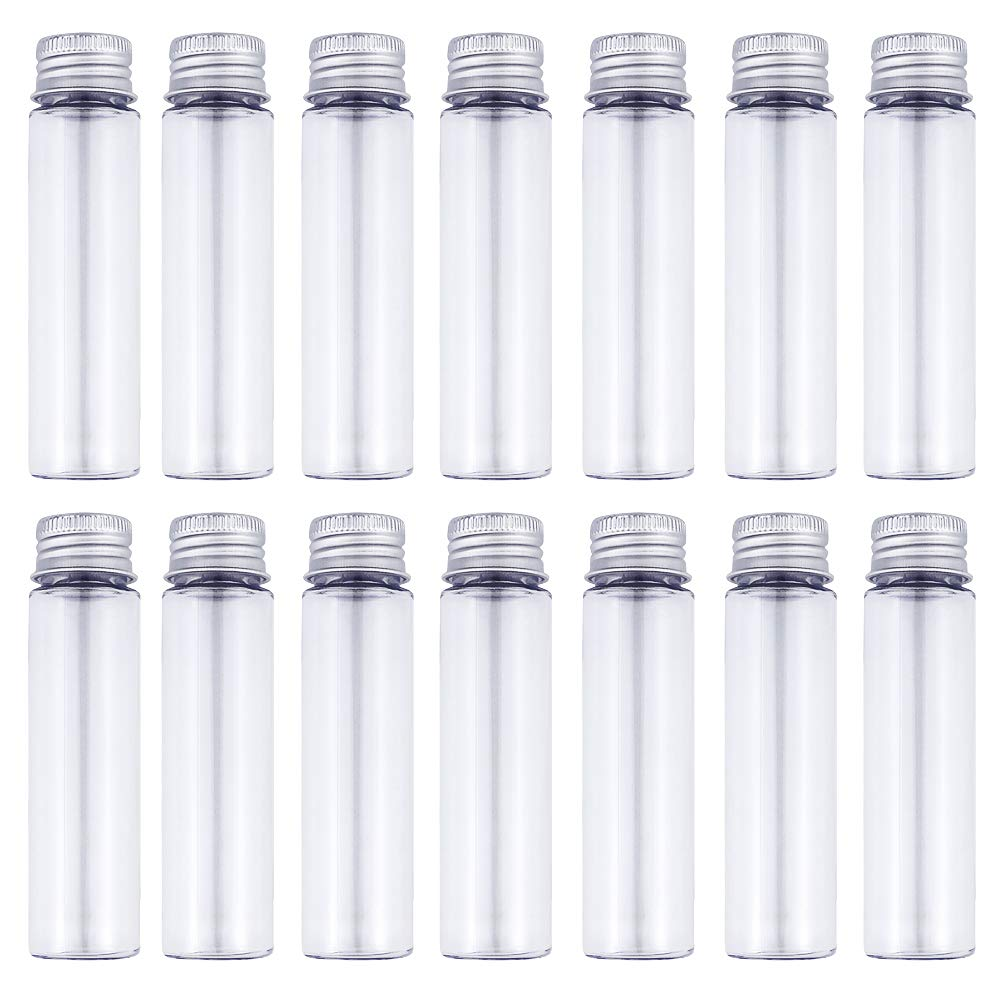 50ml Clear Flat Plastic Test Tubes with Screw Caps, Pack of 30 by DEPEPE by DEPEPE