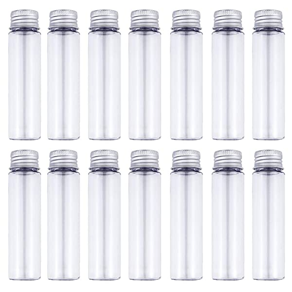 50ml Clear Flat Plastic Test Tubes with Screw Caps, Pack of 30 by DEPEPE