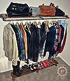 67'' 64'' Garment Rack, Wood Shelf, Shoe Rack, Steampunk Style, Industrial Decor, Clothes Rack, Clothing Rack, Store Shelf, Store Rack
