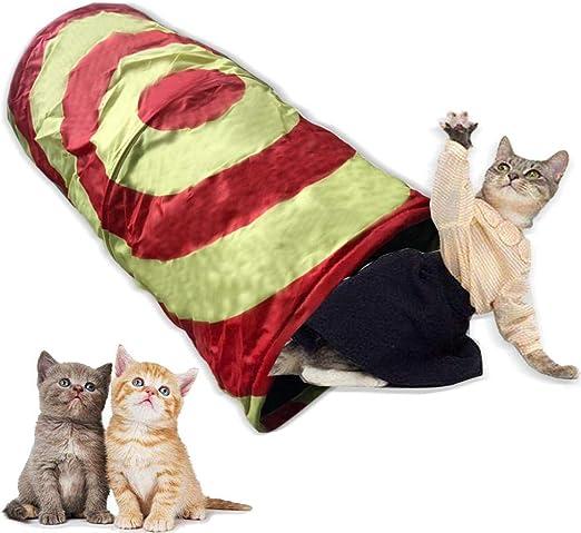 FoggDanieler Túneles para Gatos,Artículos para Gatos,Tubos y túneles para Animales pequeños,Juguetes Gato,Juguetes Gatos interactivos,Cat House,Gatos Accesorios,Conejos,Túneles,50 * 25 cm: Amazon.es: Productos para mascotas