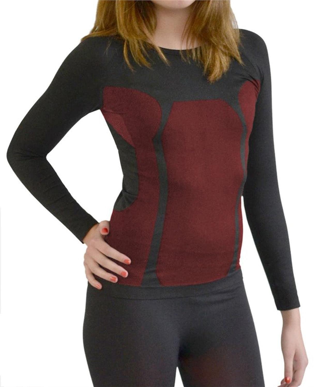 Damen Sport Thermo Funktionswäsche Langarm Hemd Seamless von normani® - Ski-, Thermo- & Funktionsshirt ohne störende Nähte mit Elasthan in versch. Farben