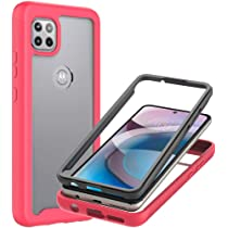 Full-Body Protective Shockproof Rugged Bumper Cover NZND Motorola One 5G Ace Case Built-in Screen Protector Clear Motorola Moto G 5G Case with Impact Resist Durable Phone Case