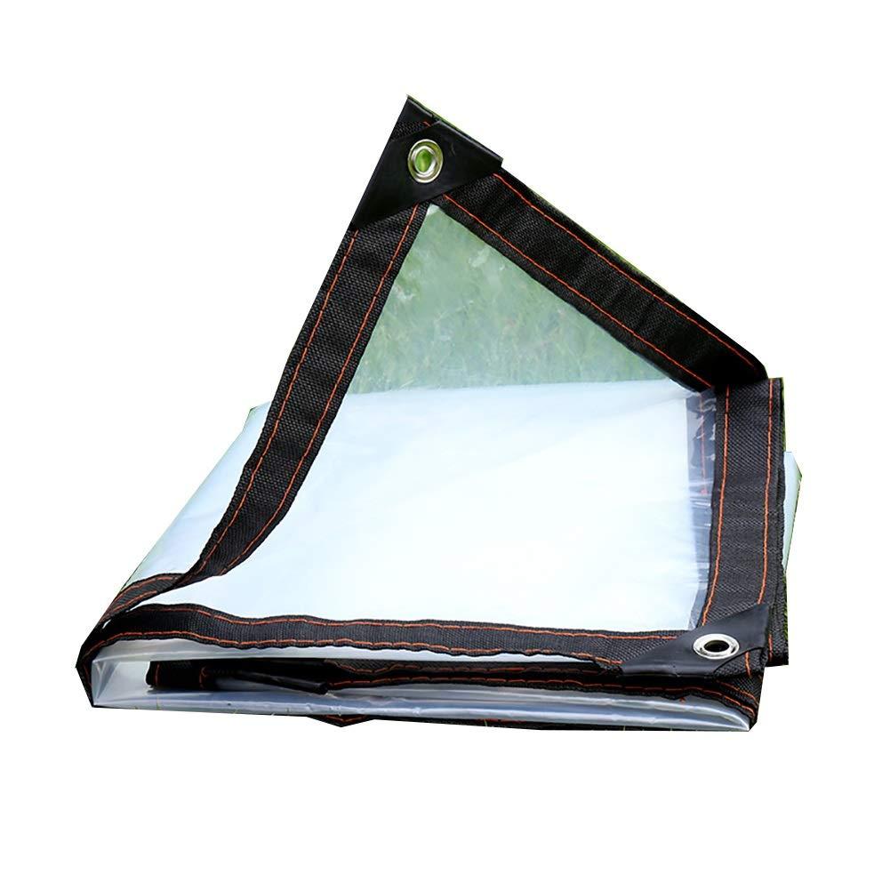 BU Plane Wasserdichte Plane-Markise-leichte Plane-Fenster-Balkon-Plane Im Freien, Transparent Doppelseitiges Wasserdichtes, Perforiert (größe : 3×5m)
