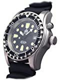 Taucher Uhr m. Automatik Werk Saphir Glas PU Band Helium Ventil T0257