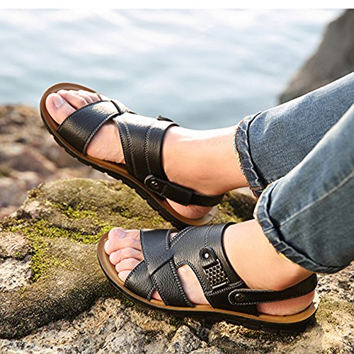 Casual Sandali Pool Traspirante Uomo Toe Taglia Classic PU Da Home Peep Pantofole Summer Antiscivolo Da Black Spiaggia qrCfAnvq