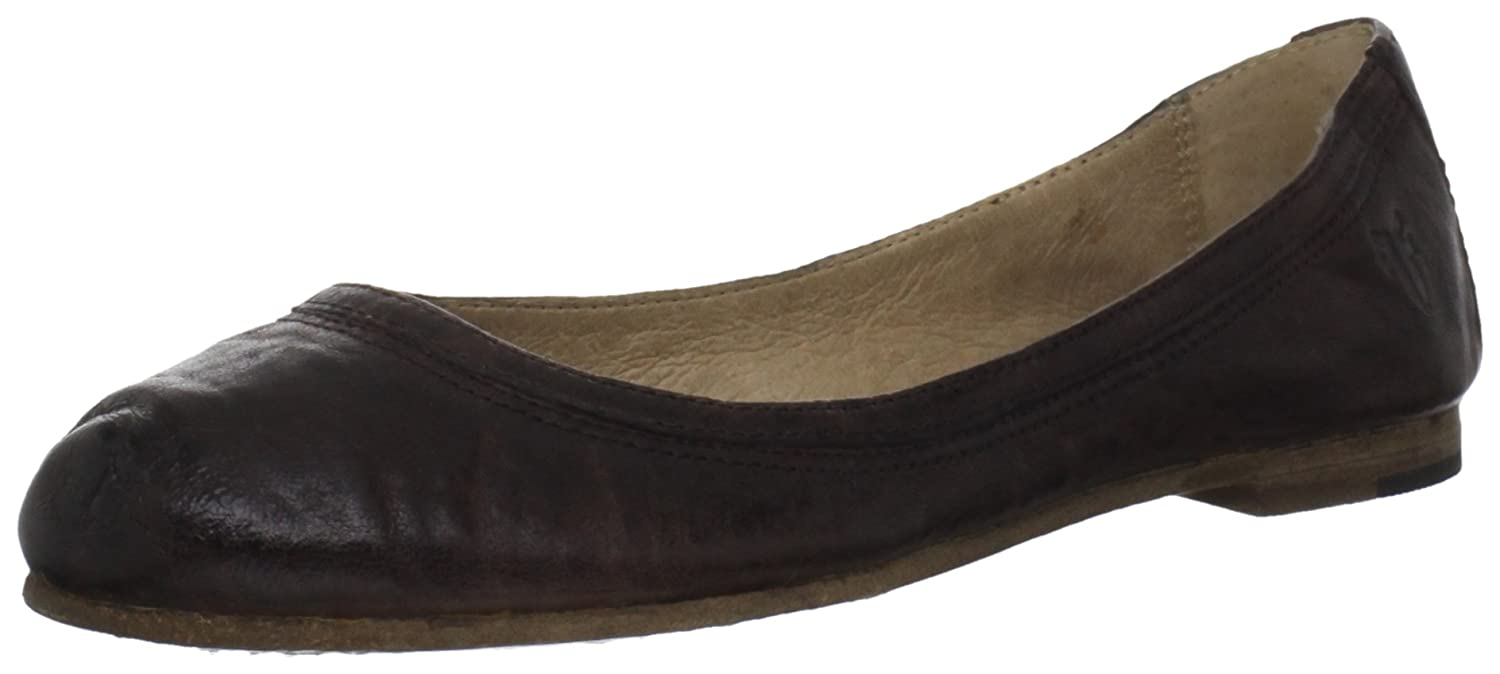 FRYE Women's Carson Ballet Flat B006LSAKPK 6 B(M) US|Dark Brown Antique Soft Vintage-72126