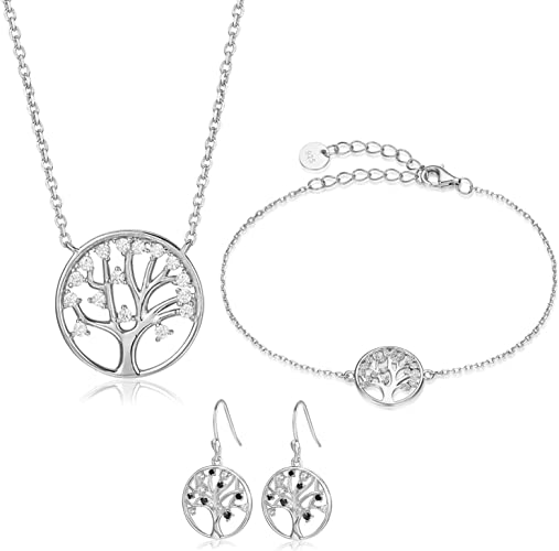 925 Sterling Silver /& Zirconia Fashion Jewelry Accessories For Women Girls DE