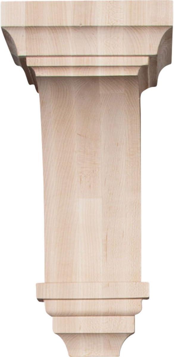 Alder Ekena Millwork CORW04X04X08JEAL 4 W X 4 3//4 D X 8 H Small Jefferson Wood Corbel