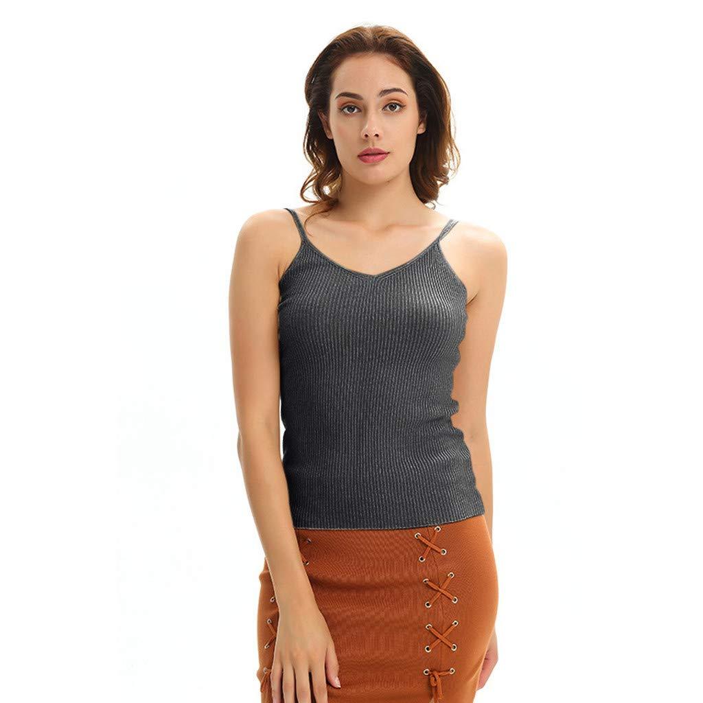 YEZIJIN Women Sexy Knitting Vest Sleeveless V-Neck Blouse Backless Camis Tops T-Shirt 2019 New Best Women Wear Black