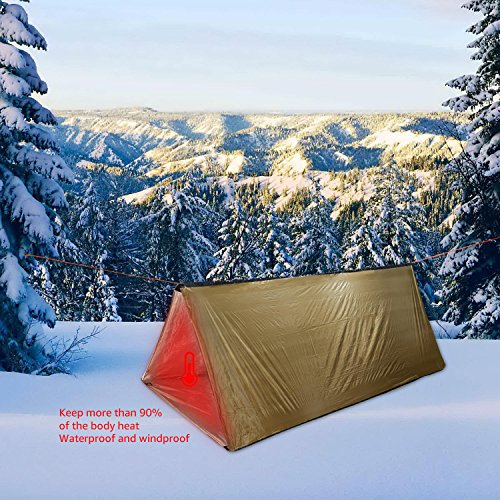Thermal Survival Shelter Tent ... & Thermal Survival Shelter Tent Paracord 550 (Military Grade) 2 ...