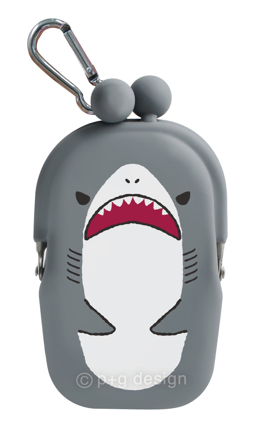 P+G Design Aquarium Silicone Coin Purse Grey Shark