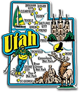 Utah State Jumbo Map Magnet