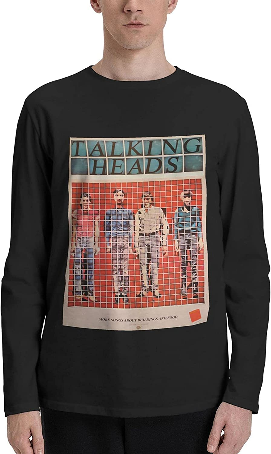 Talking Heads More Songs About Buildings and Food Long Sleeve T-Shirts Mens Fashion Crew Neck Tops Tshirt