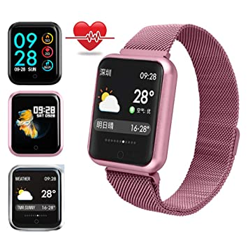 Reloj Deportivo Mujer,Miya Bluetooth Smartwatch Impermeable IP68 Reloj Inteligente Fitness Tracker con Monitor de Sueño, Podómetros, Cronómetros ...
