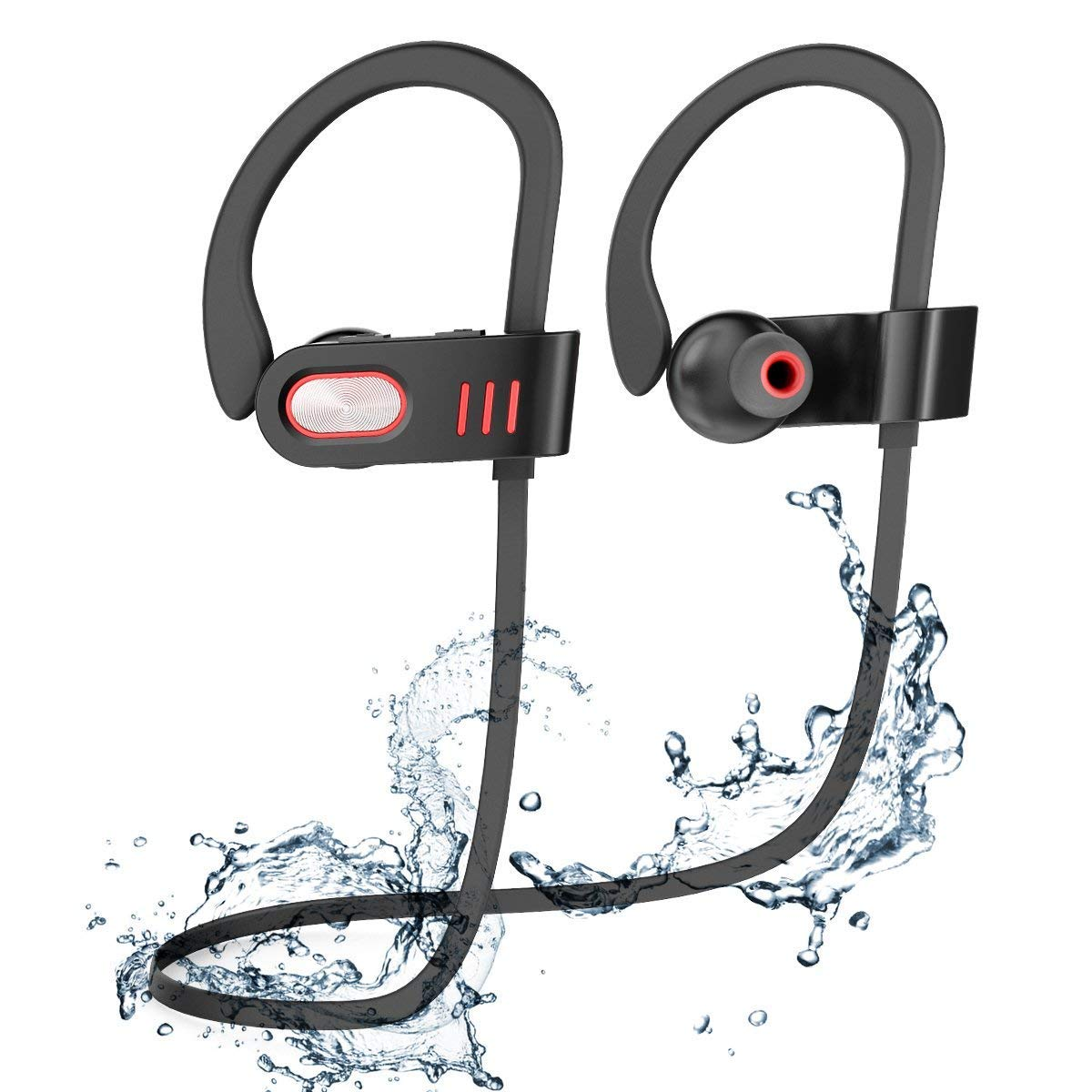 SDFLAYER V11-1 Bluetooth Headphones,V4.1 Wireless Earbuds Lightweight Heavy Bass Noise Isolating with Microphones Flat Cord Stereo Wireless Earbuds Headset Earphones for Running & Gym Black9