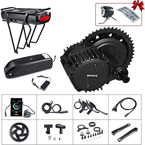 BAFANG BBSHD 1000W 48V Ebike Motor with LCD Display Mid Drive Electric Bike Conversion Kits with Battery 48V 17.5Ah