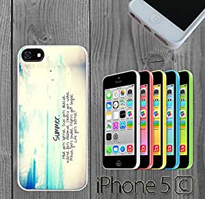 Trendy Summer Beach Life Custom made Case/Cover/skin FOR iPhone 5C - White - Rubber Case