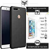 Honor 8 Pro Back Cover + Tempered Glass - TheGiftKart Ultra Premium Smooth Matte Finish Soft Back Cover (Black) + HD Tempered Glass