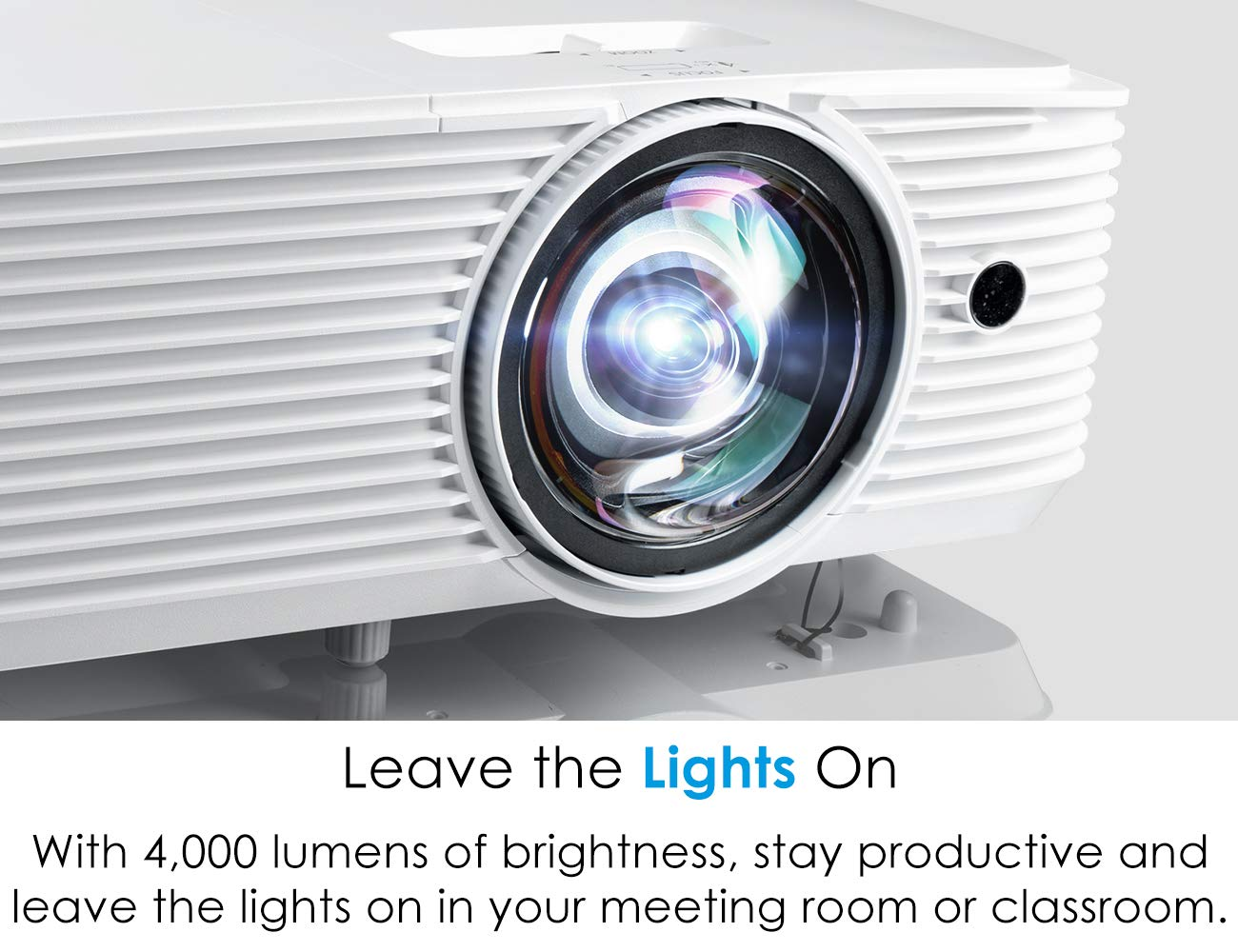 Optoma EH412ST Short Throw 1080P DLP Professional Projector | Super Bright 4000 Lumens | Business Presentations, Classrooms, or Meeting Rooms | 15,000 hour lamp life | Speaker Built In | Portable Size by Optoma (Image #5)