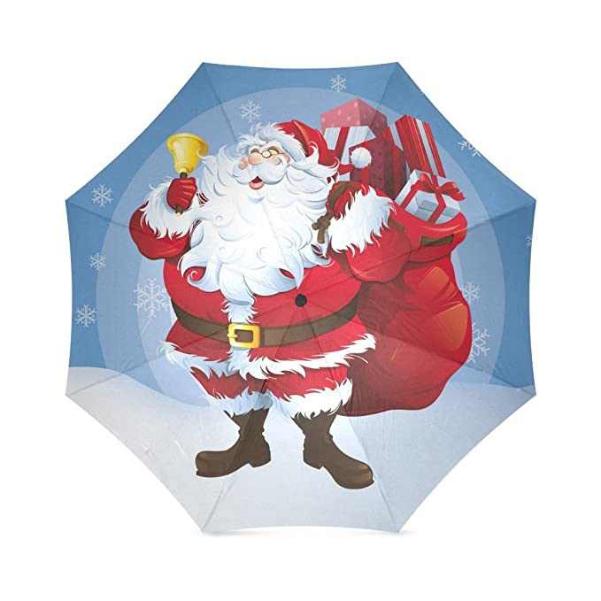 santa claus father christmas best christmas gift folding rain umbrellaparasolsun umbrella