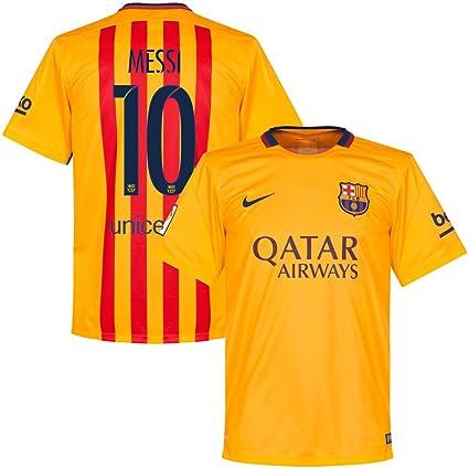 303e904505a Amazon.com   NIKE Barcelona Away Messi Jersey 2015 2016   Sports ...