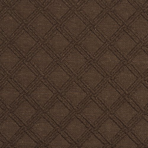 Cocoa Diamond Accent Brown Contemporary Brocade Upholstery Fabric by the yard