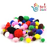 Pom Poms Assorted Colours & Sizes (100) By Ark Craft
