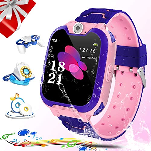 Kids Smartwatch, Zeekeer Music Game SOS Smart Watch for Kids with Music Player SIM Card Slot Camera Learning Gifts for Boys and Girls Birthday
