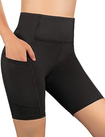Feagar Dafunna Pantalón Corto Deportivo para Mujer de Yoga de Entrenamiento con Bolsillo Lateral elásticos Polaina para Running Pilates Fitness ...