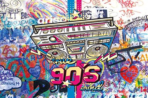 qianqian 90's photo background Graffiti Style photography backdrops Hip HOP For Studio Props vinyl 7x5ft qianqian-dn035 by qianqian