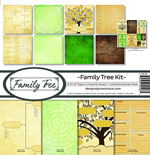 Reminisce Family Tree Scrapbook Collection Kit