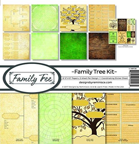 Reminisce Family Tree Scrapbook Collection Kit - Family Tree Kit