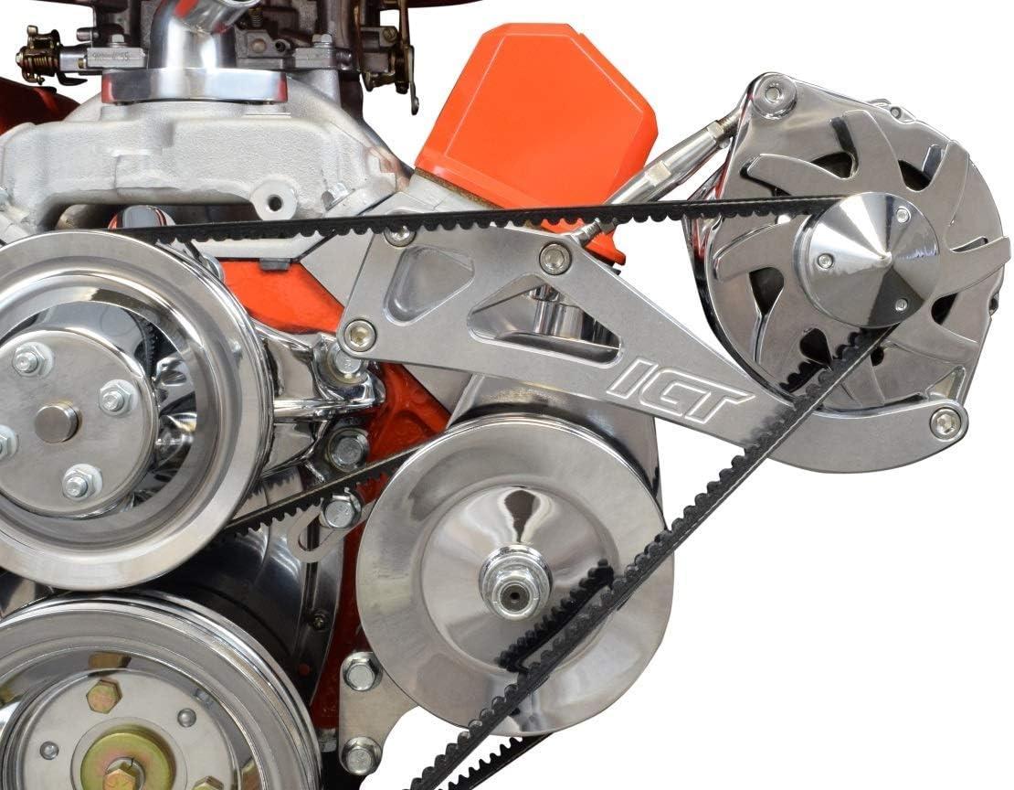 ICT Billet SBC Sanden 508 A//C Compressor Bracket Long Water Pump Small...