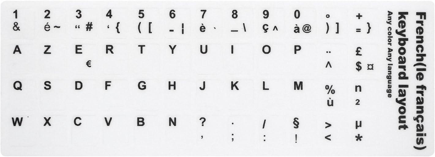 HRH 2/matt mehrsprachig Arabisch Russisch Spanisch Hebr/äisch Tastatur Schl/üssel Aufkleber Label Alphabet 10/zu 43,2/cm Laptop Tastatur