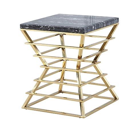 Amazon.com: Mesa de café de mármol cuadrada salón comedor ...