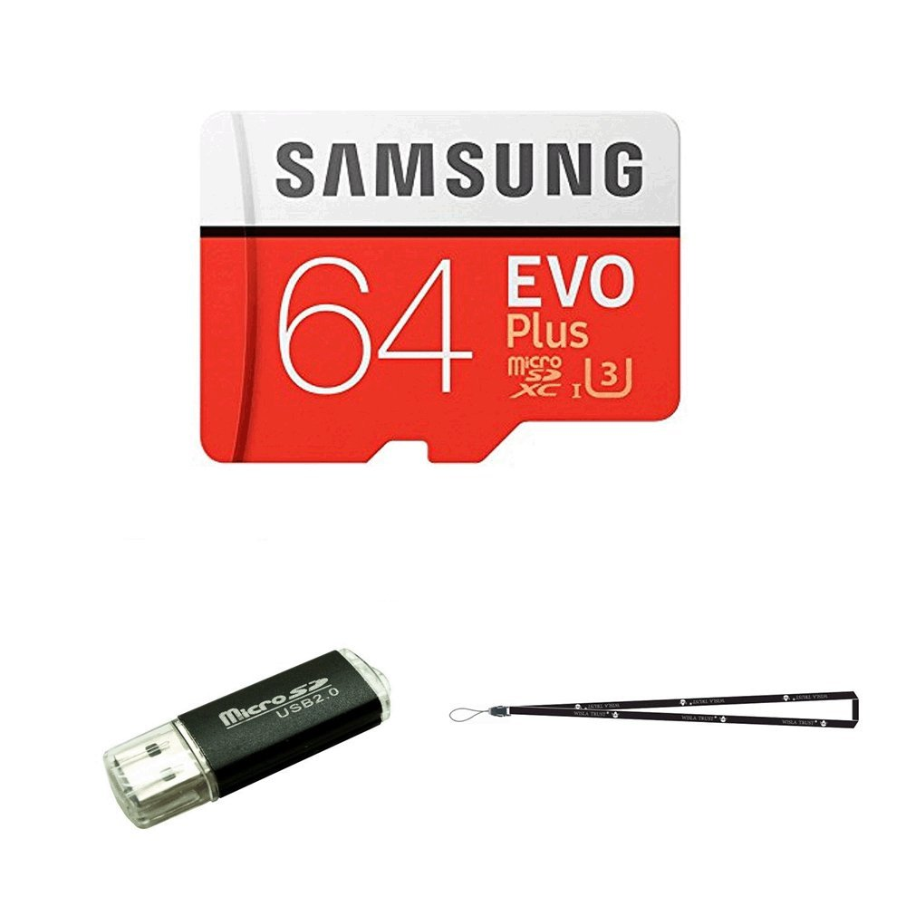 64GB Samsung Evo Plus Micro SD XC Class 10 UHS-1 64G Memory Card for Samsung Galaxy S9, S8, S8+, Note 8, S7 Edge, S4, S3, Cell Phones with TF/SD USB ...