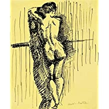 Oil Painting 'Standing Woman Seen From Behind 1909 By Henri Matisse' Printing On Perfect Effect Canvas , 24x30 Inch / 61x75 Cm ,the Best Kitchen Gallery Art And Home Decoration And Gifts Is This Amazing Art Decorative Canvas Prints