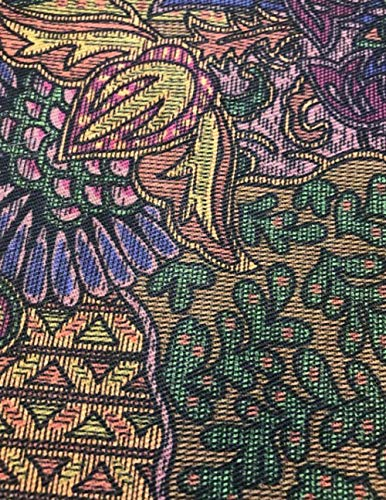 Brown Needlepoint Paisley (Dot Grid Journal: 8.5 x 11 inch)
