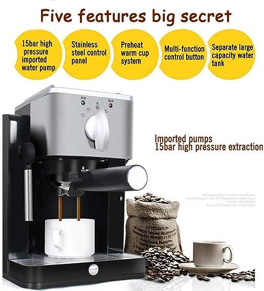 ZJN-JN cafeteras Máquina de café Expresso 15 Bar Mini Vapor de ...