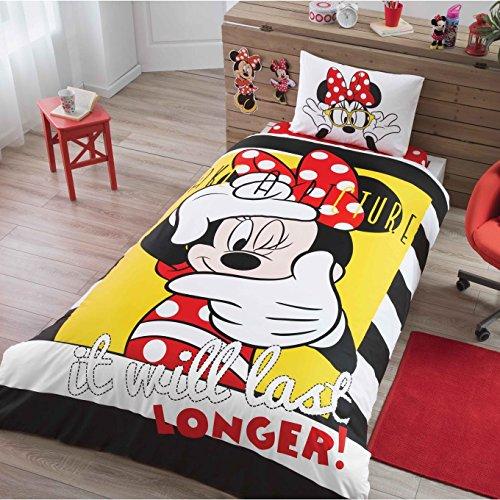 Mickey Minnie Selfie Bedding Duvet Cover Set New Licensed 100% Cotton / Disney Minnie Selfie Twin Size Duvet Cover Set / Mickey Mouse Bedding Set 3 PCS by store_turco