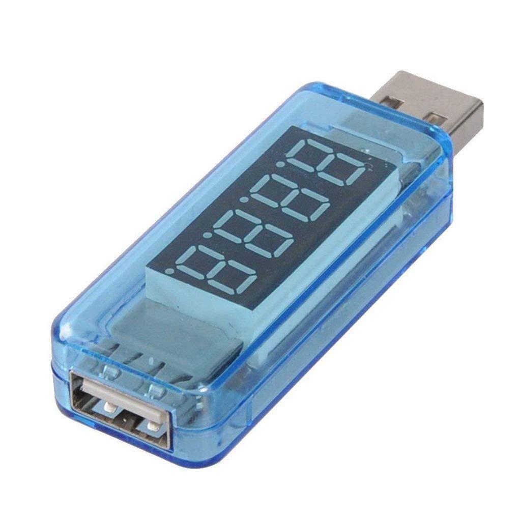 F-blue USB Tension Courant de Charge D/étecteur dalimentation Mobile Courant Voltm/ètre amp/èrem/ètre Tension Chargeur USB testeur Bleu