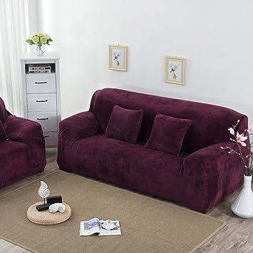 Funda de sofá de felpa,Cubierta del sofá de paquete completo ...