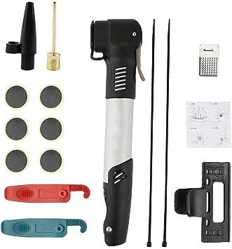 Tbest Kit de Reparación de Bicicletas,Mini de Aire Bomba Portátil ...
