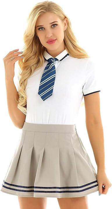 ranrann Uniforme de Escolar para Mujer Chica Cosplay Colegiala ...