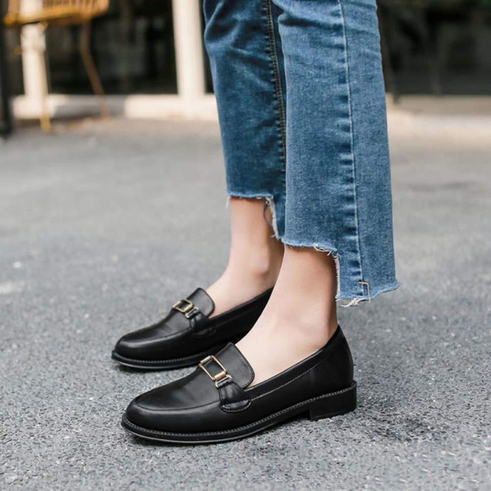 TZQ Frauen Mary Jane Smart Mid Court Ferse Schuhe Ladys