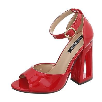 Ital Design High Heel Sandaletten Damenschuhe Pump Heels Schnalle Sandalen &