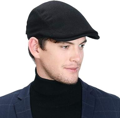 Comhats Winter Wool Duckbill Cap Mens Golf Irish Ivy Flat Gatsby Newsboy Hat  Drving Visor Cold Weather Black Large at Amazon Men's Clothing store