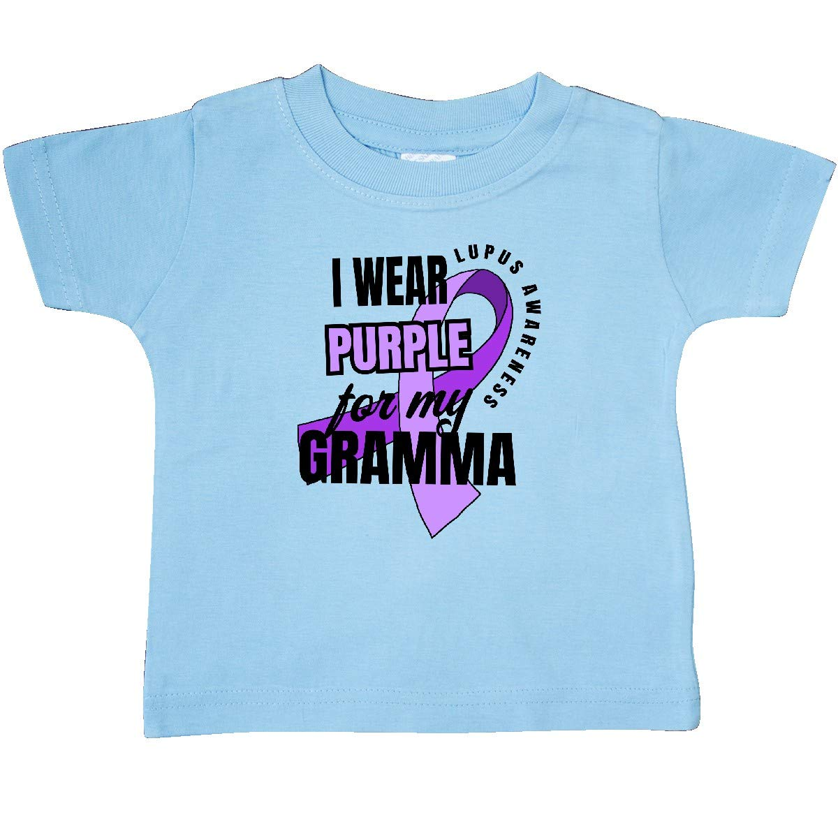 inktastic I Wear Purple for My Gramma Lupus Awareness Baby T-Shirt