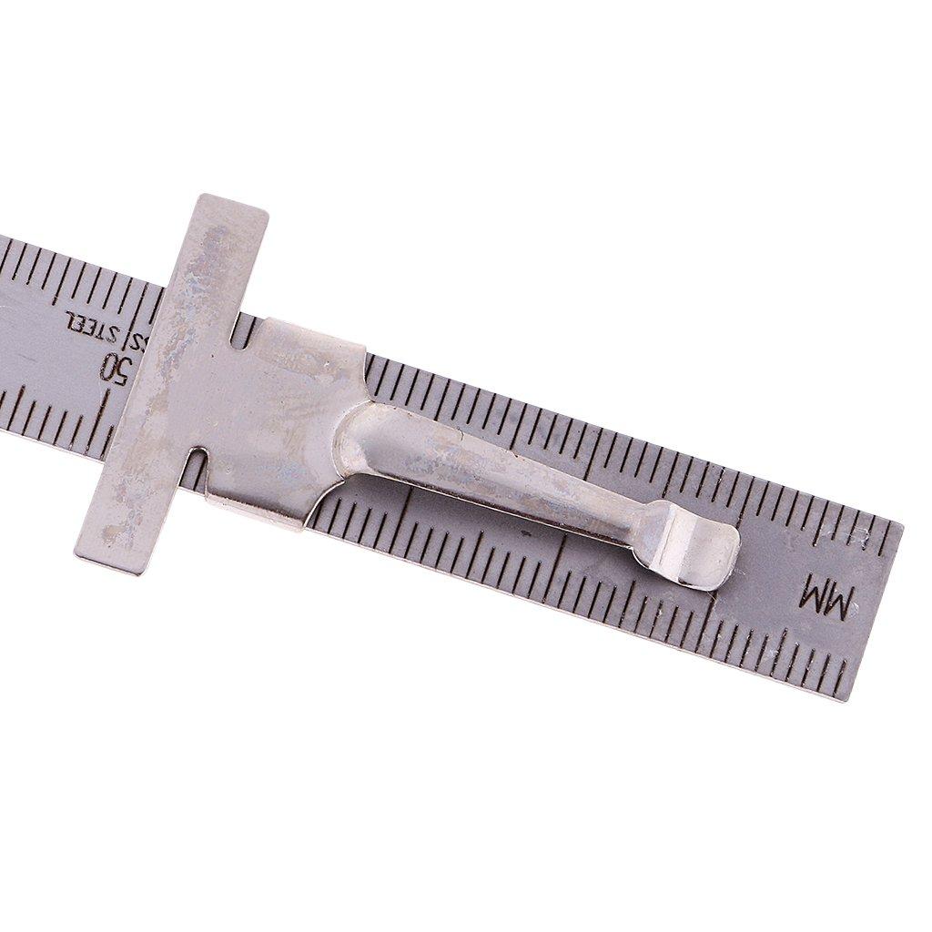 MagiDeal Soldadura Taper Feeler Gauge Gage Profundidad Regla Gap Agujero Inspecci/ón Inoxidable 0-15mm